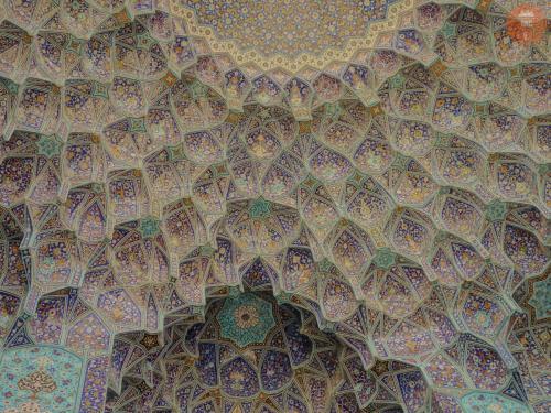 Detaily šáhovy mešity - Isfahán