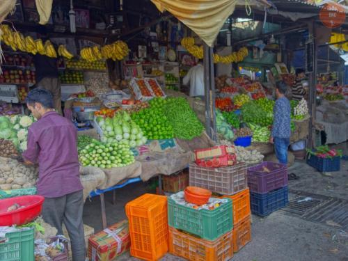 Na tržišti ve městě Chamba
