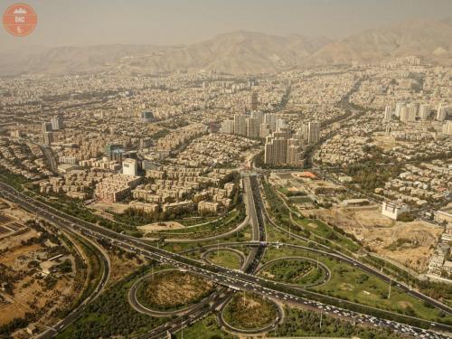 Výhledy z věže Bordž- e Milad - Teherán